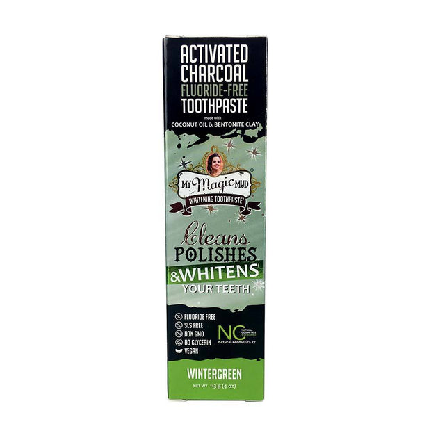 Charcoal Teeth Whitening Toothpaste 113g - Wintergreen, My Magic Mud, Toothpaste