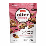 Cherry & Almond Butter Coconut Clusters 91g (70% Cacao), Alter Eco, Clusters