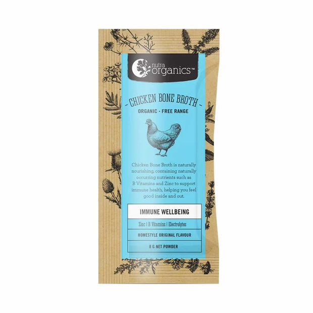 Chicken Bone Broth Homestyle Original Sachet 8g | 20x8g, Nutra Organics, Broth