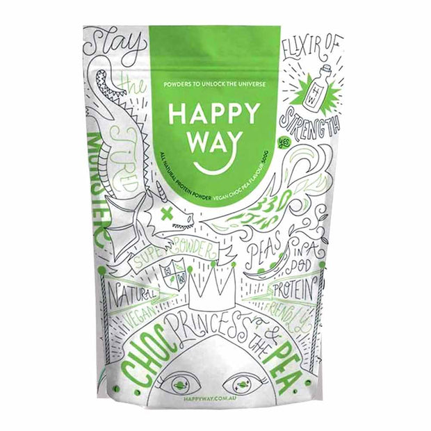 Choc Pea Vegan Protein Powder 60g | 500g, Happy Way, Protein