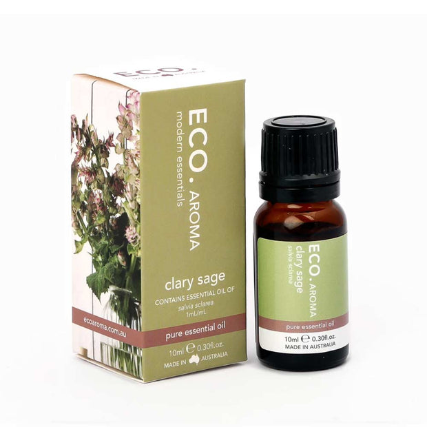Clary Sage Pure Essential Oil 10ml, Eco Modern Essentials, Essential Oils