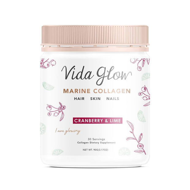 Cranberry and Lime 90G Loose Powder, Vida Glow, Collagen