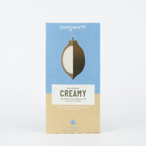 Creamy Coconut Mylk Chocolate 80g, Loving Earth, Chocolate