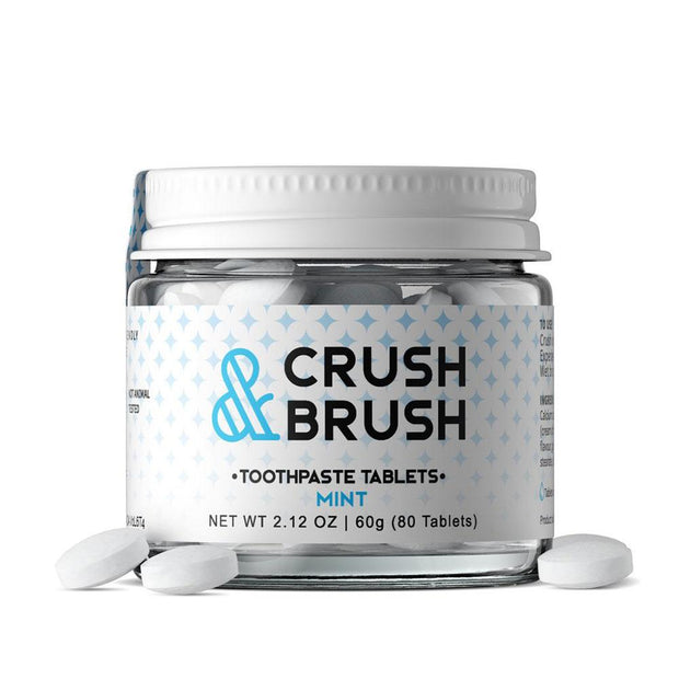 Crush & Brush Mint - 80 Tablets, Nelson Naturals, Toothpaste Tablets