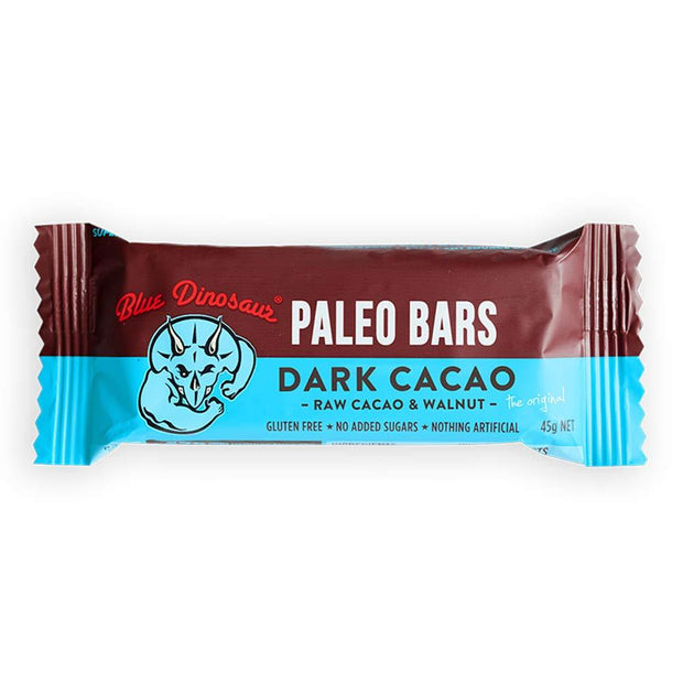 Dark Cacao Paleo Bar, Blue Dinosaur, Bars