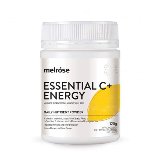 Essential C + Energy 120g, Melrose, Nutrient Powder