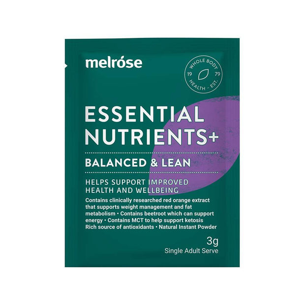 Essential Nutrients+ Balanced And Lean Sachet 3g x 30 Pack, Melrose, Nutrient Powder