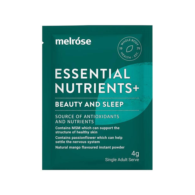 Essential Nutrients+ Beauty and Sleep 30 x 4g sachets, Melrose, Sleep Supplement