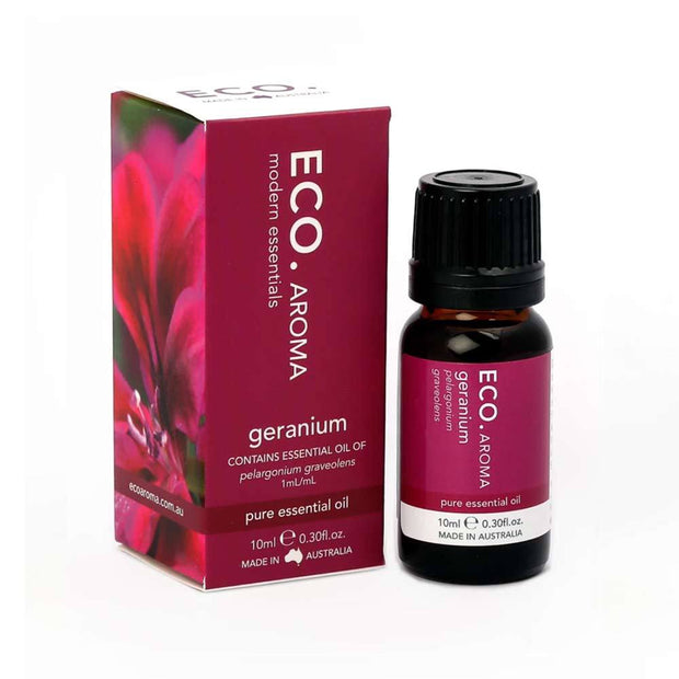 Geranium Pure Essential Oil 10ml, Eco Modern Essentials, Essential Oils