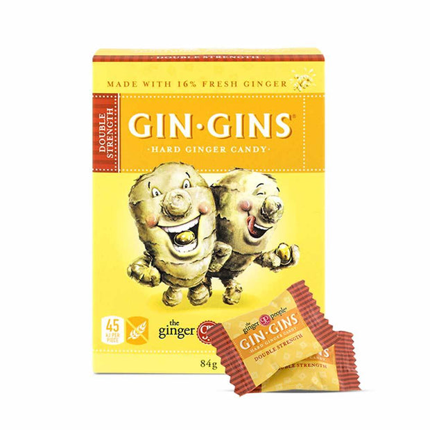 Gin Gins Double Strength Hard Ginger Candy 84g, The Ginger People, Candy