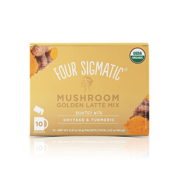Golden Latte with Shiitake & Turmeric (10pk), Four Sigmatic,