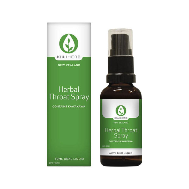 Herbal Throat Spray 30mL, Kiwiherb, Throat Spray