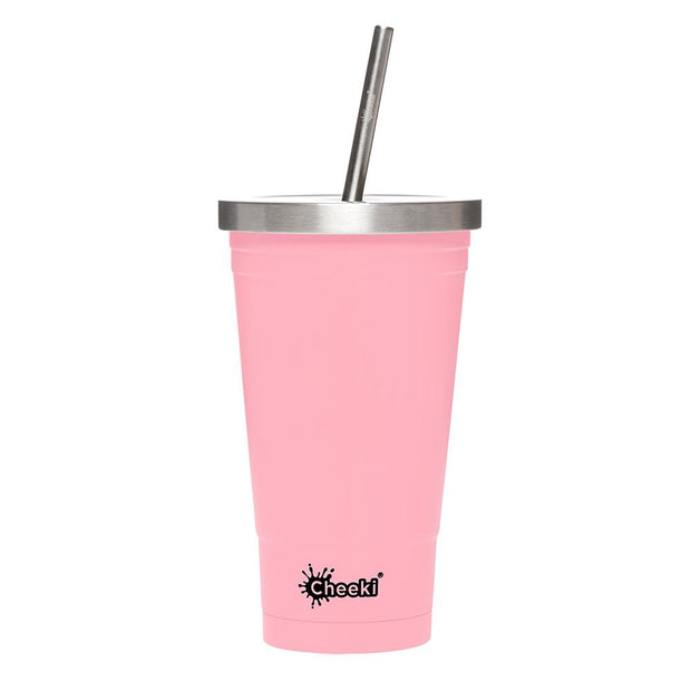Insulated Tumbler Stainless Steel 500ml - Pink, Cheeki, Tumbler
