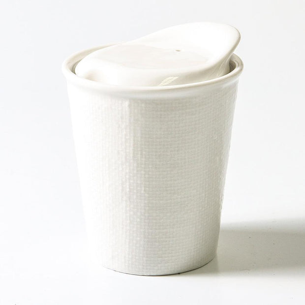 It's a Keeper Ceramic Cup 200mL - White Linen, Indigo Love Collectors, Coffee Cup