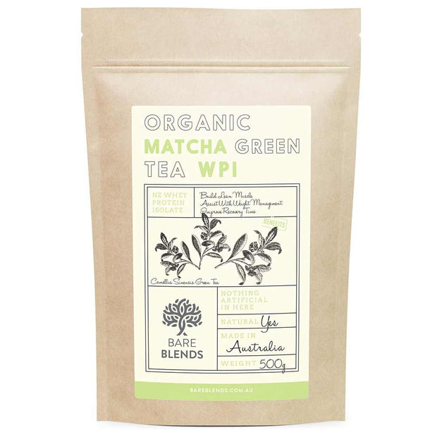 Japanese Matcha WPI 500g, Bare Blends, Protein