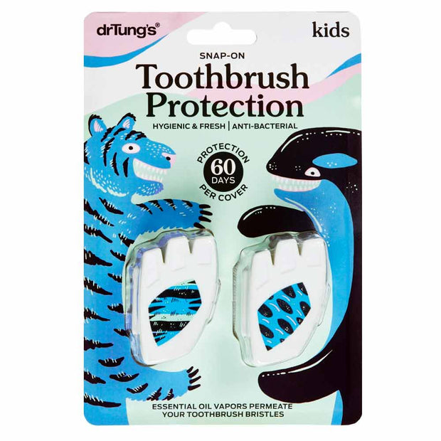 Kids Toothbrush Protection - 2 Pack, Dr Tung's, Kids Toothbrush Protector
