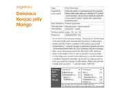 Konjac Jelly Snack 150mL, Mango, Sugarlolo, Low Calorie Snack