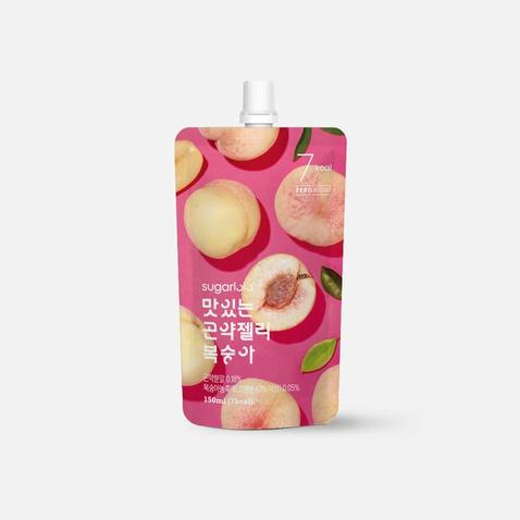 Konjac Jelly Snack 150mL, Peach, Sugarlolo, Low Calorie Snack