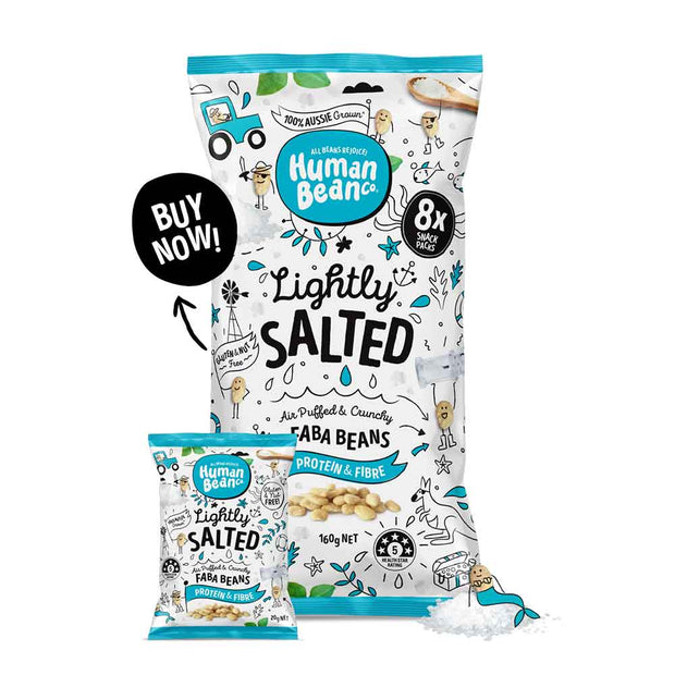 Lightly Salted Multi 8 x 20g Packs, Human Bean Co, Chips