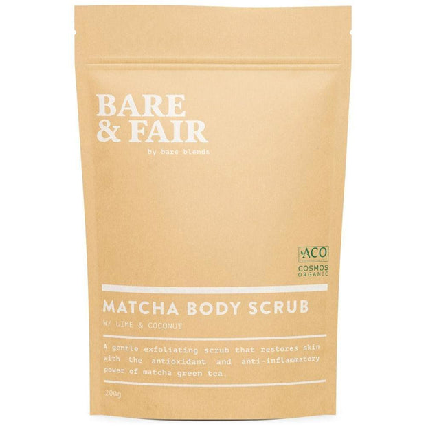 Matcha Body Scrub, Bare Blends, Body Scrub