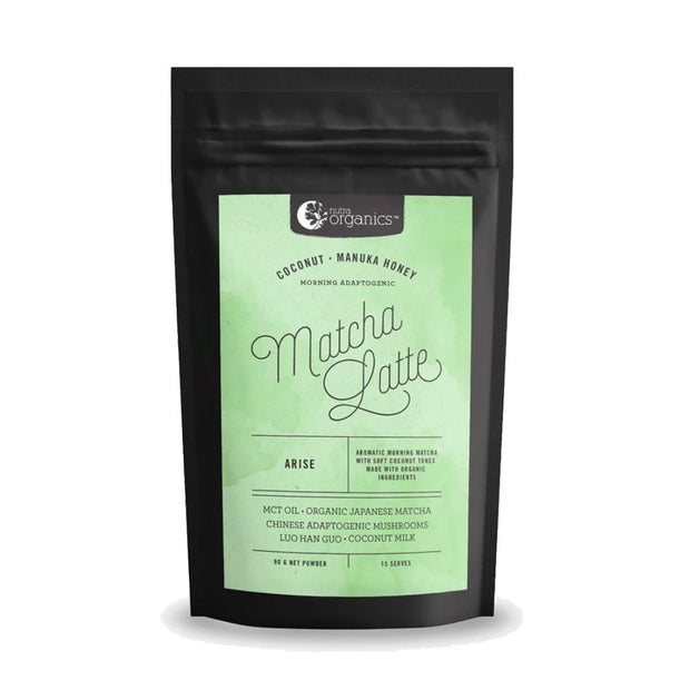 Matcha Superfood Latte - Green Tea &  MCT Oils 90g, Nutra Organics, Latte
