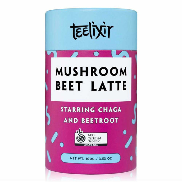 Mushroom Beet Latte with Chaga 100g, Teelixir, Tonic Blends