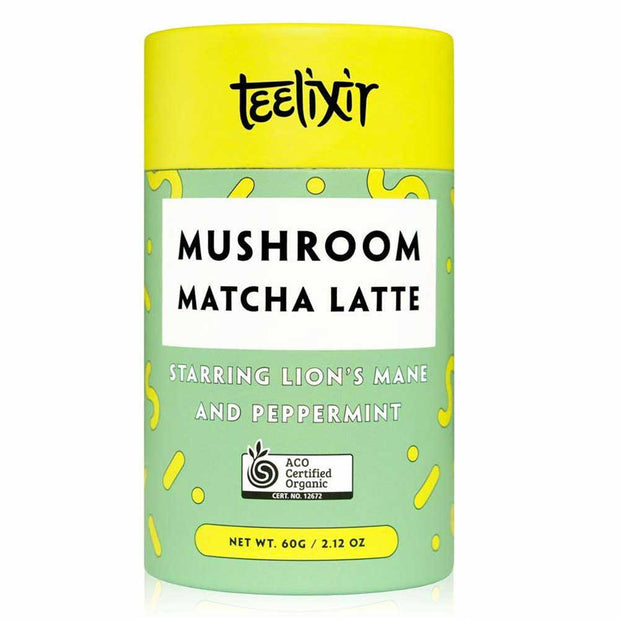 Mushroom Matcha Latte with Lion's Mane 60g, Teelixir, Tonic Blends