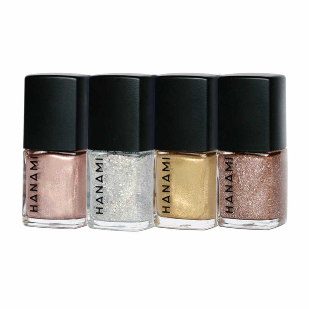 Nail Polish Gift Pack - Tinsel (4 x 9ml), Hanami Cosmetics, Nail Polish