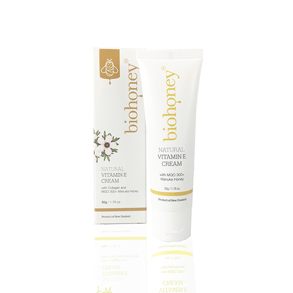 Natural Vitamin E Cream 50g, Biohoney, Face Moisturiser