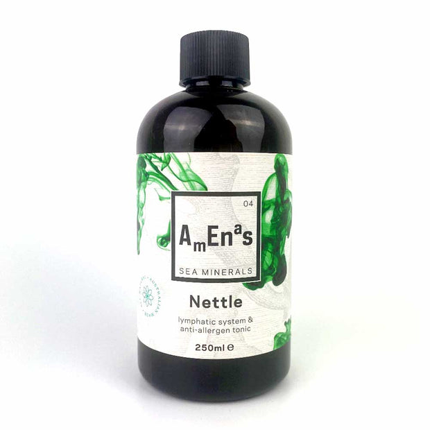 Nettle Sea Minerals - Lymphatic System & Anti-Allergen Tonic 250ml, Amenas Sea Minerals, Sea Minerals