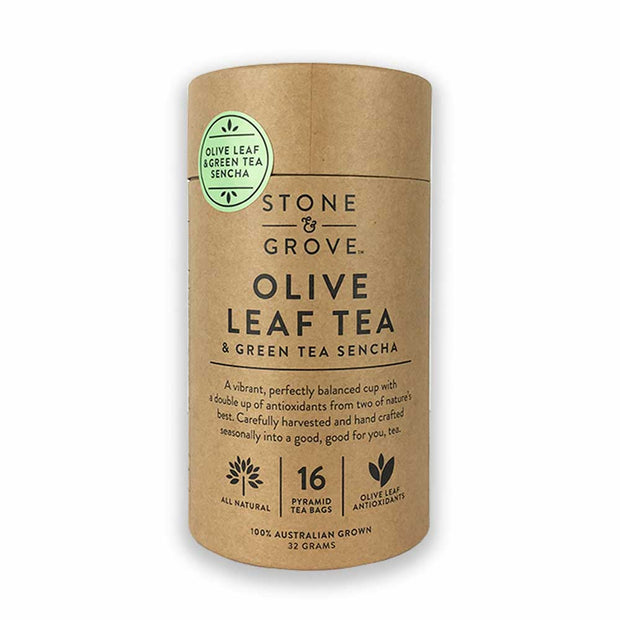 Olive Leaf & Green Tea Sencha, Stone & Grove, Tea