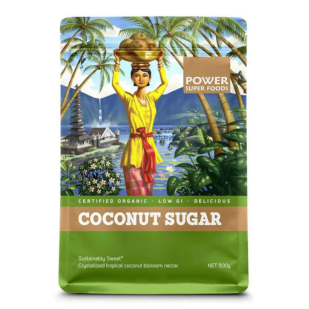 Organic Coconut Sugar 200g | 500g |1kg, Power Super Foods, Coconut Sugar