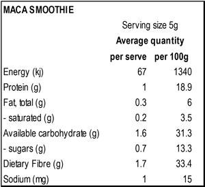 Organic Maca Smoothie Blend 250g, Power Super Foods, Smoothie Blends