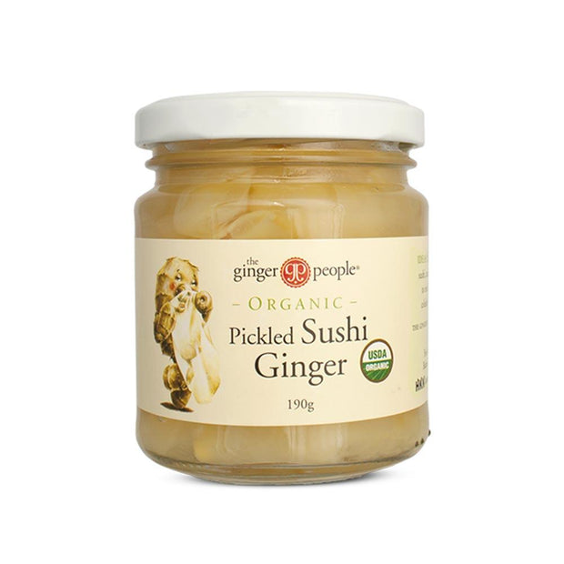 Organic Pickled Ginger 190g, The Ginger People, Pickled Ginger
