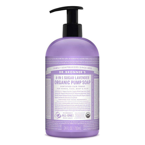 Organic Pump Soap - Lavender 355mL | 710mL, Dr Bronner's, Liquid Soap