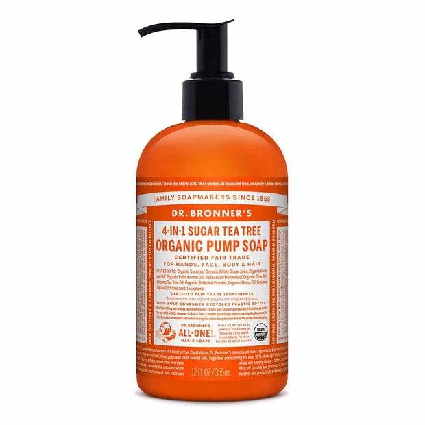 Organic Pump Soap - Tea Tree 355mL | 710mL, Dr Bronner's, Liquid Soap