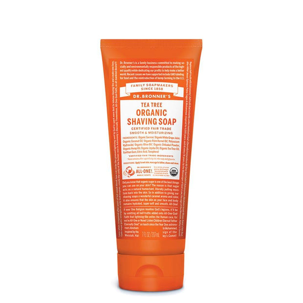Organic Shaving Soap - Tea Tree 207mL, Dr Bronner's, Shaving Cream
