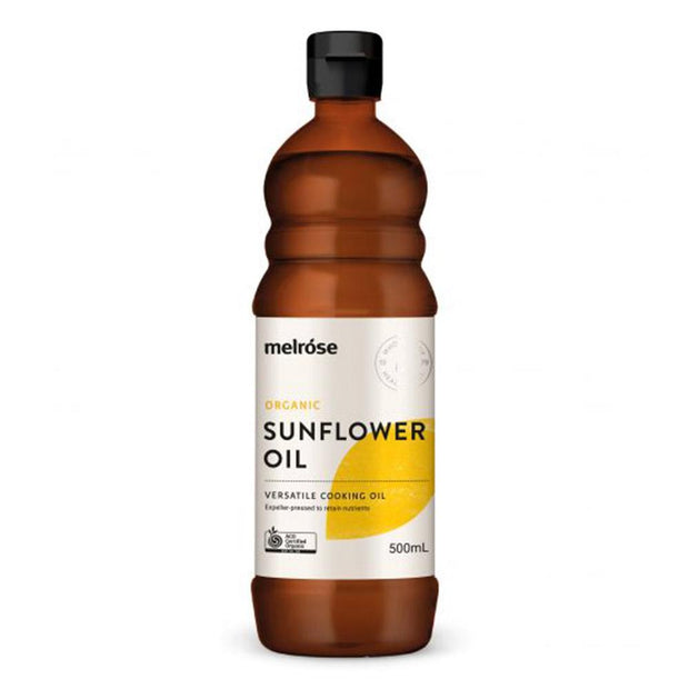 Organic Sunflower Oil 500ml, Melrose, Kitchen Oil