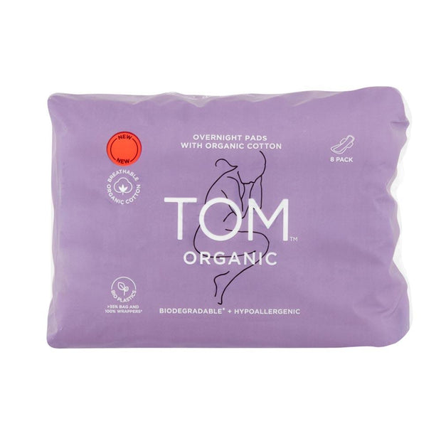 Overnight Pads 8pk, Tom Organic, Overnight Pads