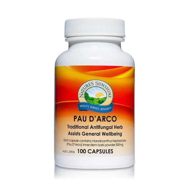 Pau D'Arco 100c - Antifungal & General Wellbeing, Nature's Sunshine, General Wellbeing