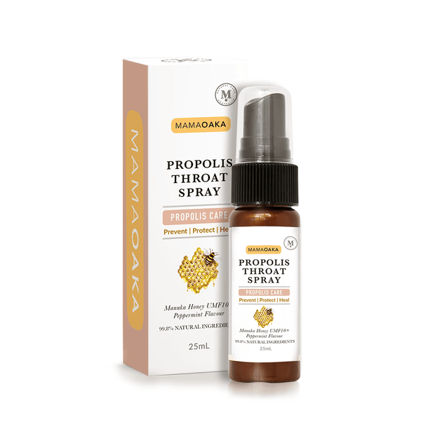 Propolis Throat Spray - with UMF 10+ Manuka Honey 25mL, Mamaoaka, Throat Spray