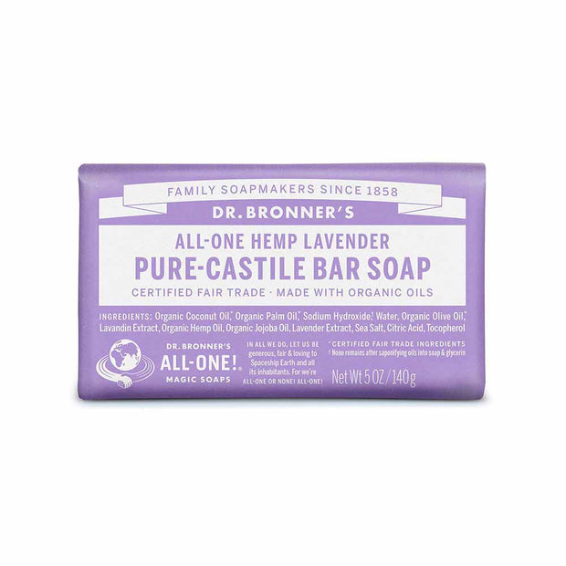 Pure-Castile Bar Soap - Lavender 140g, Dr Bronner's, Soap Bar