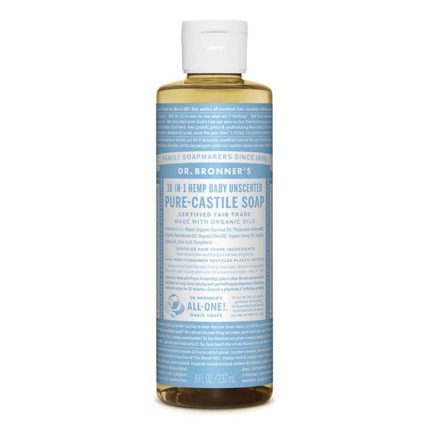 Pure-Castile Liquid Soap - Baby Unscented 237ml | 473ml, Dr Bronner's, Liquid Soap