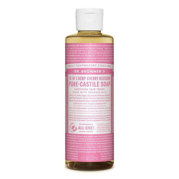 Pure-Castile Liquid Soap - Cherry Blossom 237ml | 473ml, Dr Bronner's, Liquid Soap