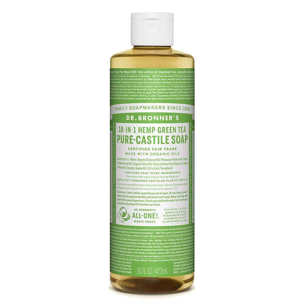 Pure-Castile Liquid Soap - Green Tea 237ml | 473ml, Dr Bronner's, Liquid Soap