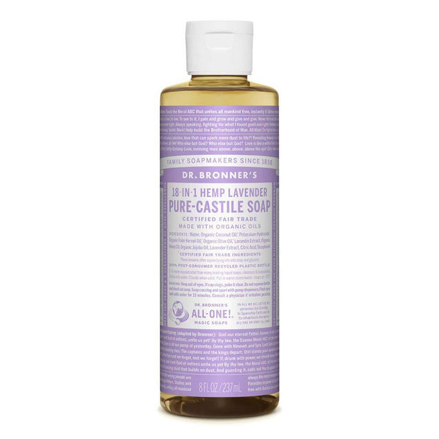 Pure-Castile Liquid Soap - Lavender 237ml | 473ml, Dr Bronner's, Liquid Soap