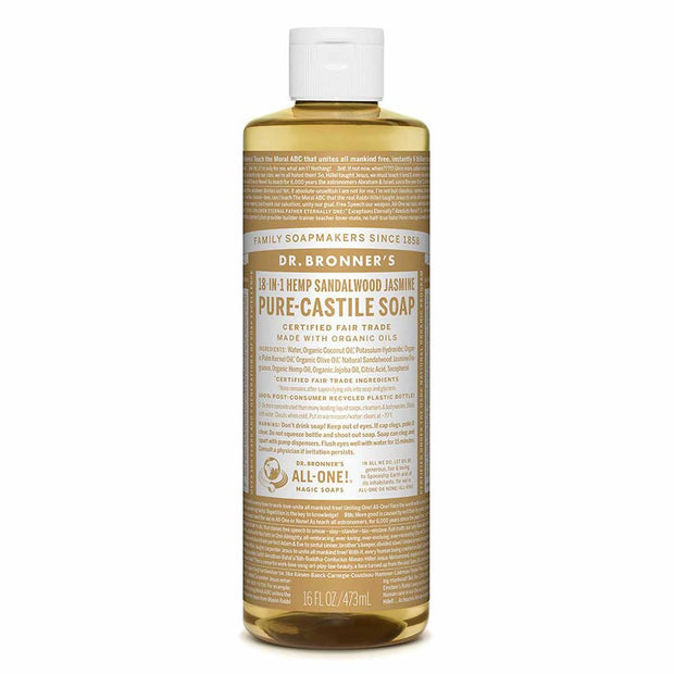 Pure-Castile Liquid Soap - Sandalwood Jasmine 237ml | 473ml, Dr Bronner's, Liquid Soap