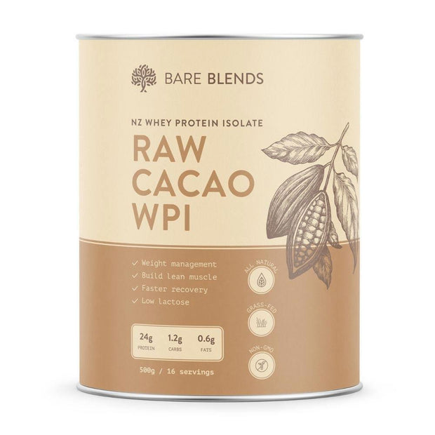 Raw Cacao WPI 500g, Bare Blends, Protein