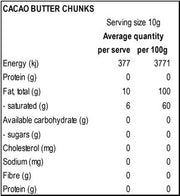 Raw Organic Cacao Butter 250g | 500g | 1kg, Power Super Foods, Cacao Butter