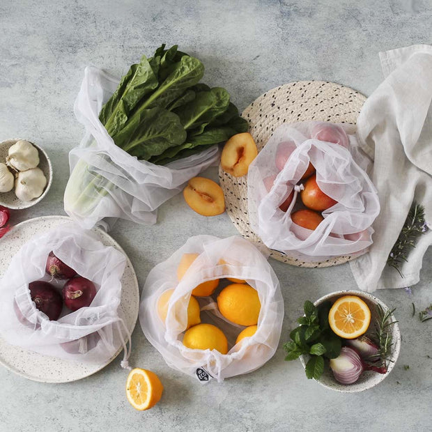 Reusable Produce Bags RPET Mesh 8 Pack, Ever Eco, Reusable Bags